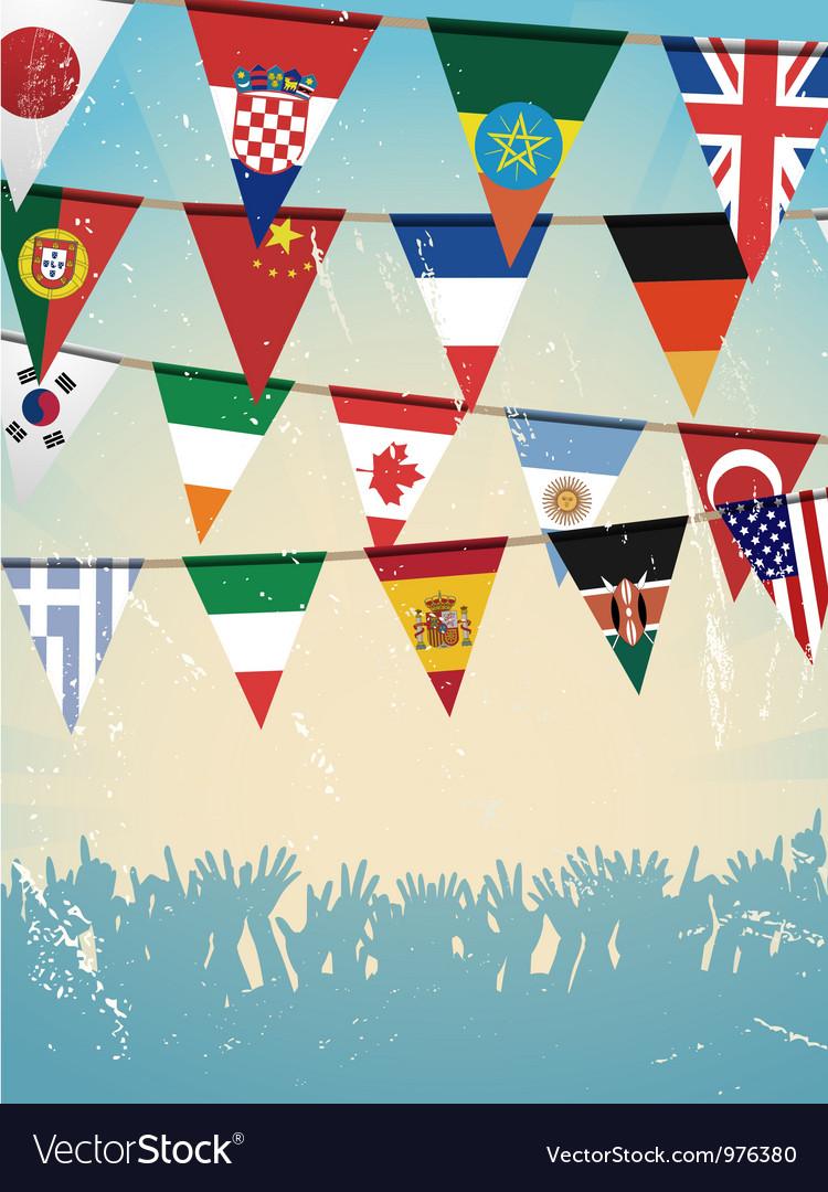 Flag background vector