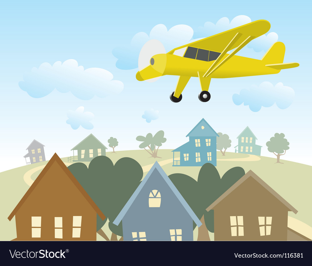 Birds eye view vector