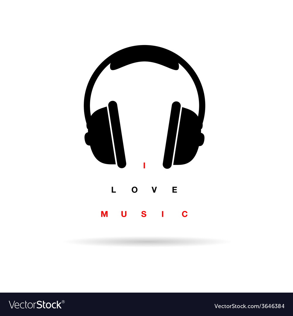 Headphones icon with message vector