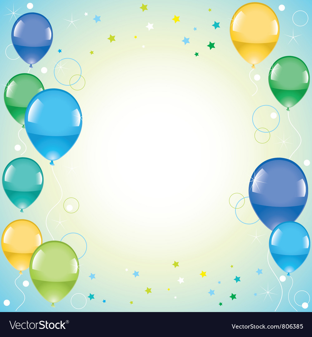 Festive colorful balloons vector