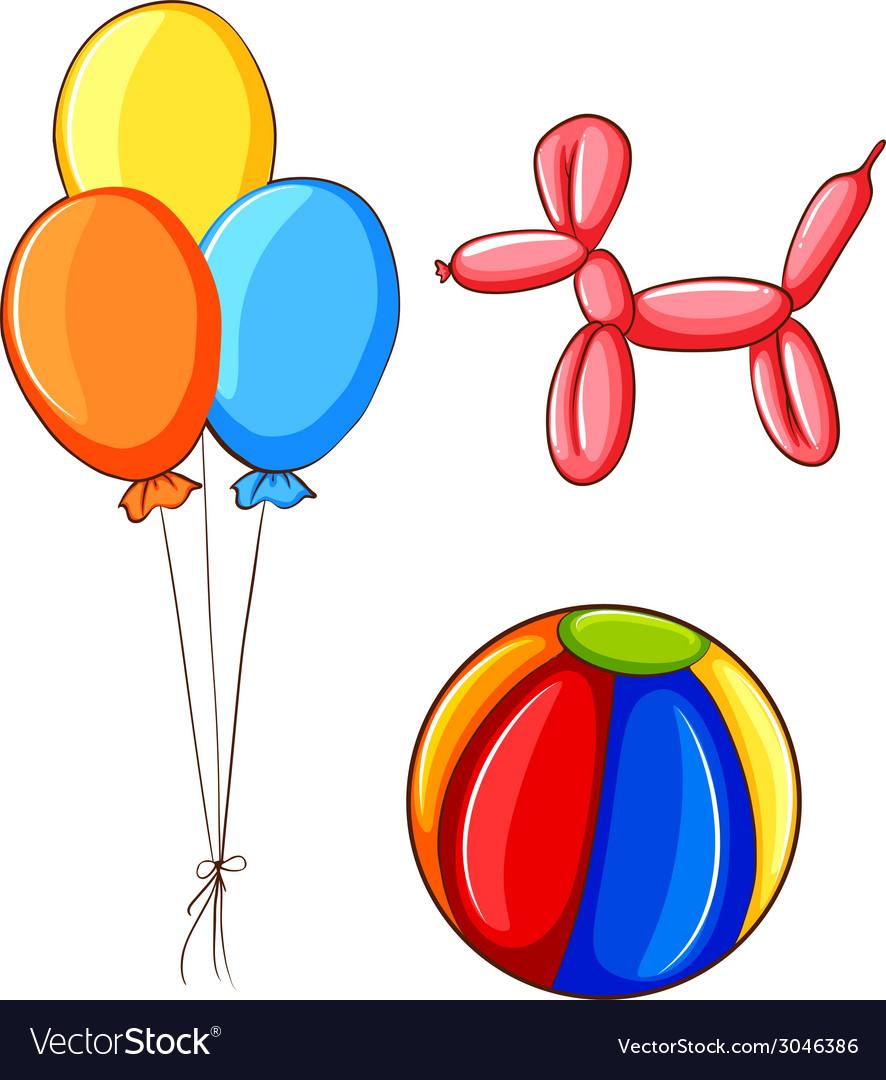Ball and balloons vector