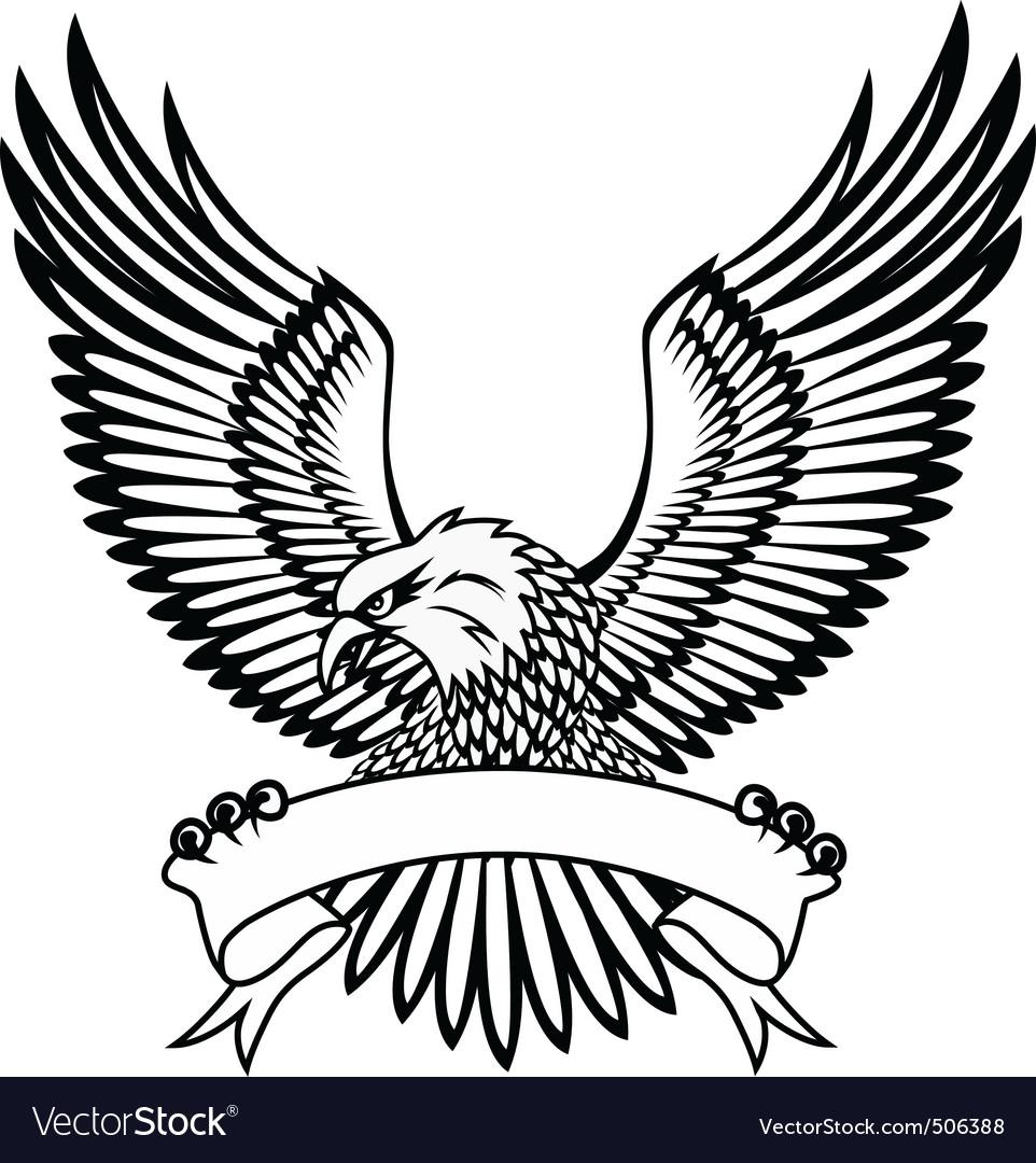 Eagle with emblem vector