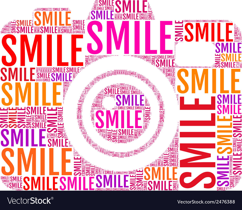Photo camera smile vector