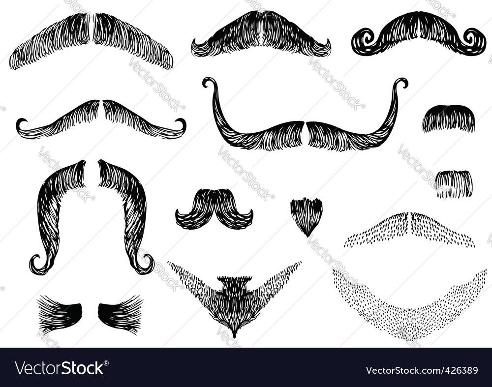 Moustaches vector