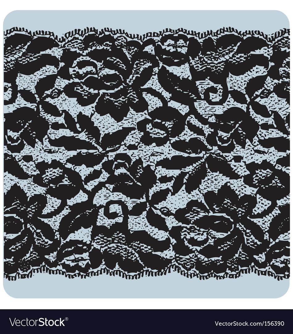 Black lace vector