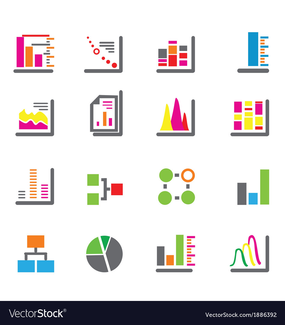 Chart and diagram vector