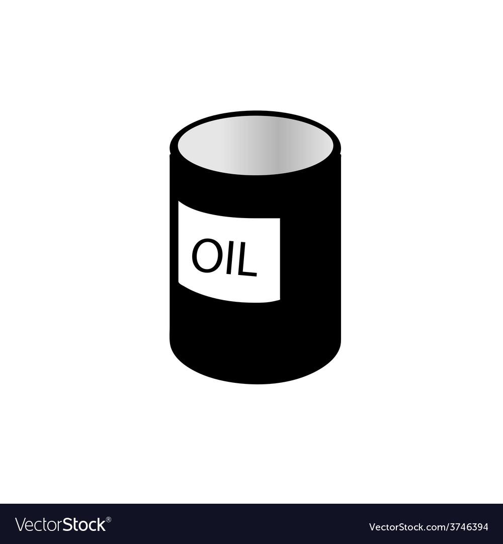 Oil tin black and white vector