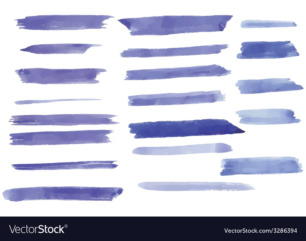 Watercolor brush strokes on paper vector