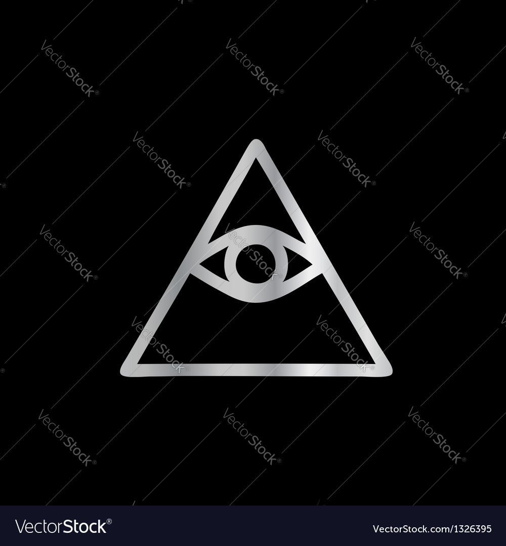 Cao dai eye of providence- religious icon vector