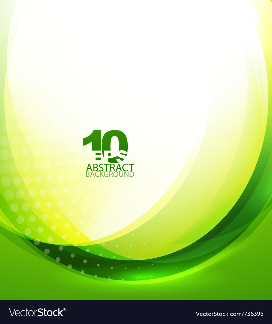 Green wave template vector