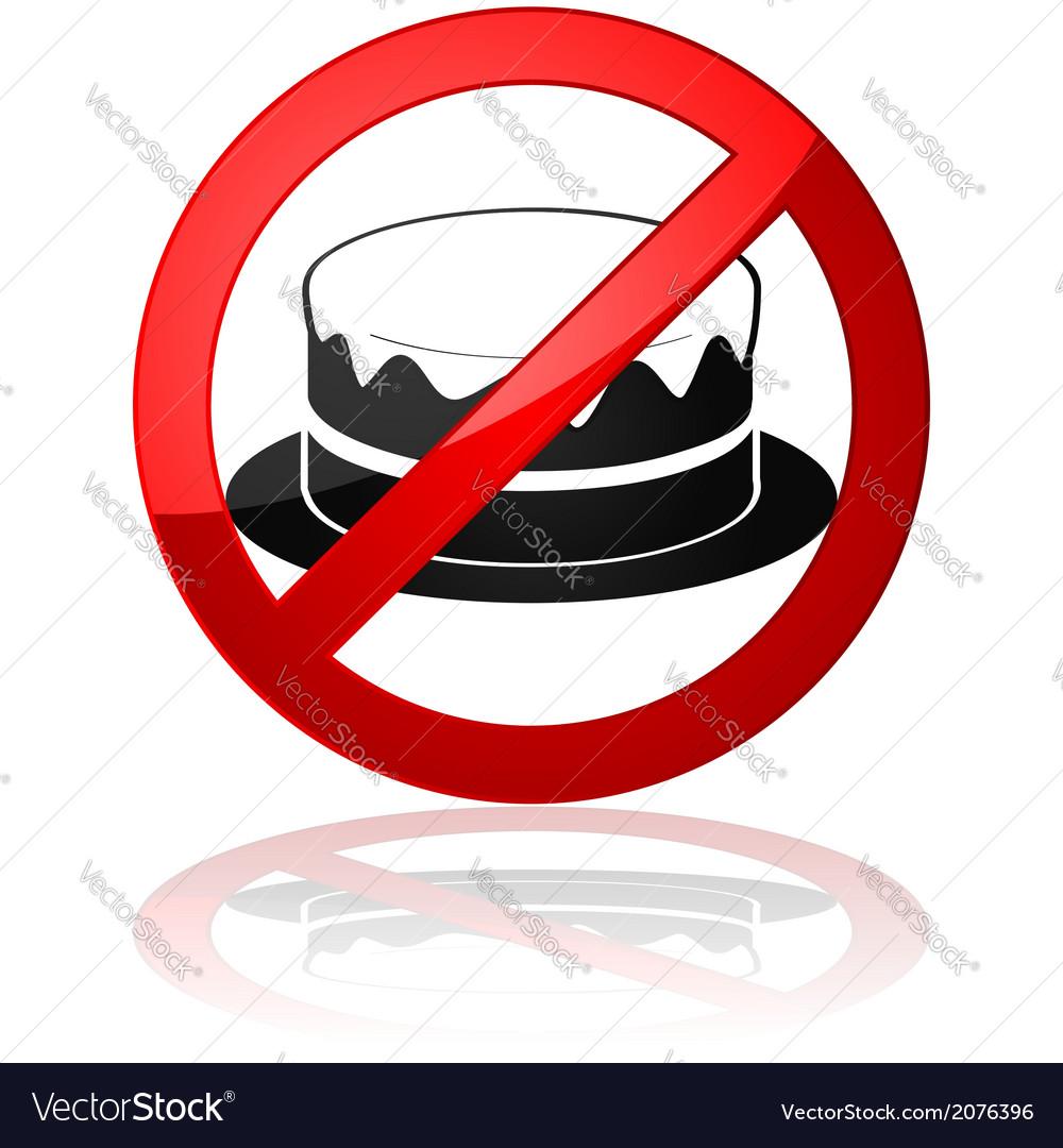 No cake allowed vector