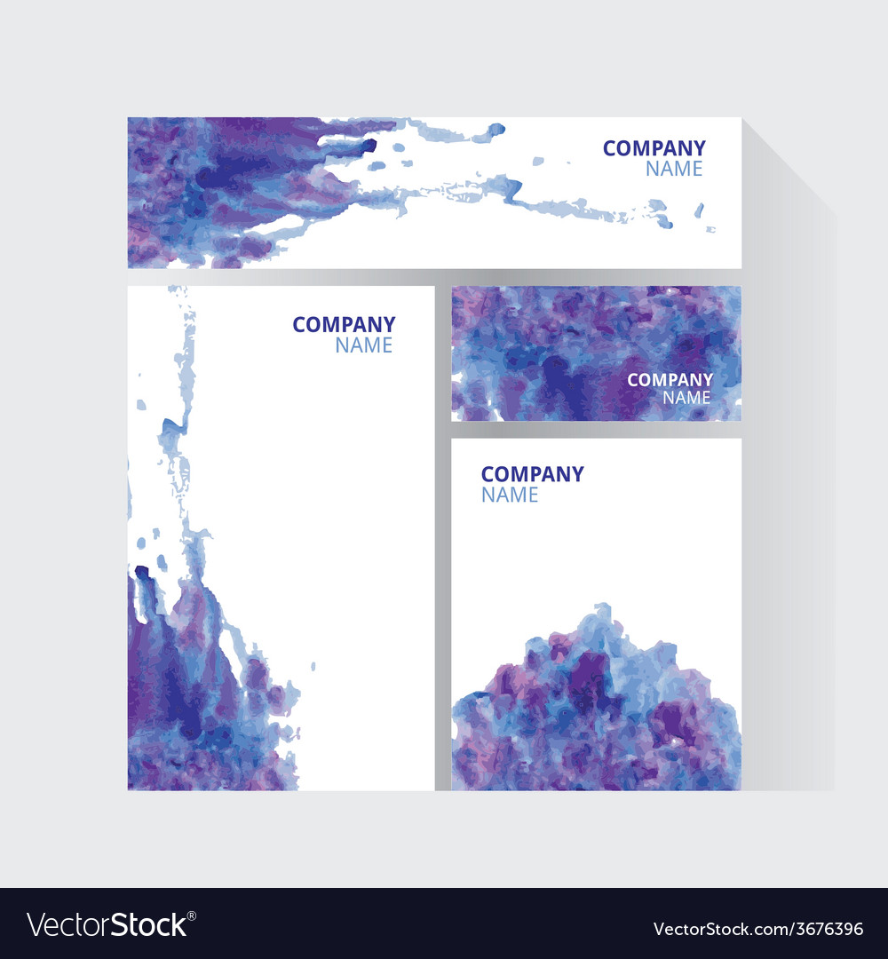 Visual corporate identity with paint watercolor vector