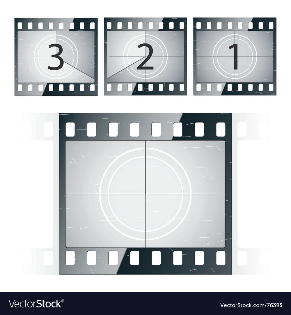 Film strip countdown vector