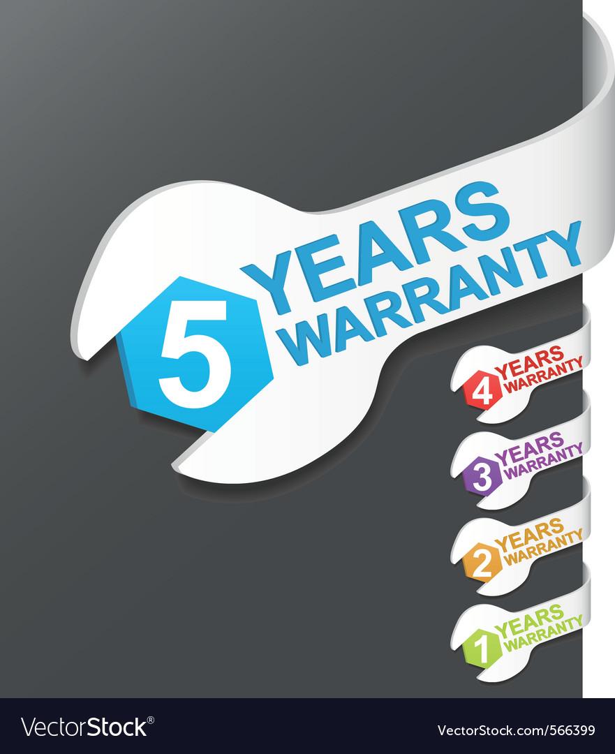 Warranty sign vector