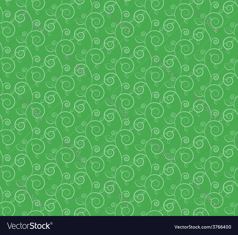 Green branches and leaves seamless pattern vector