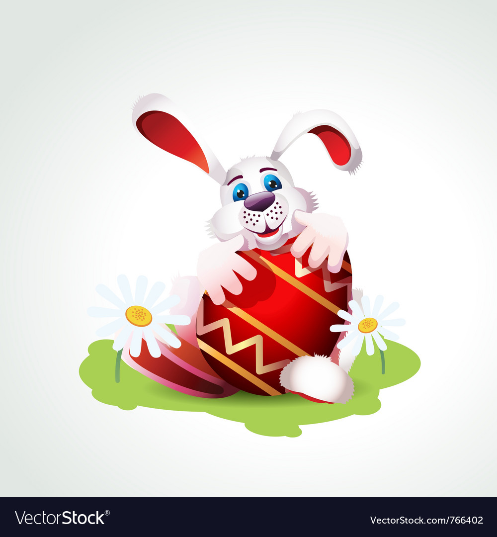 Easter bunny vector