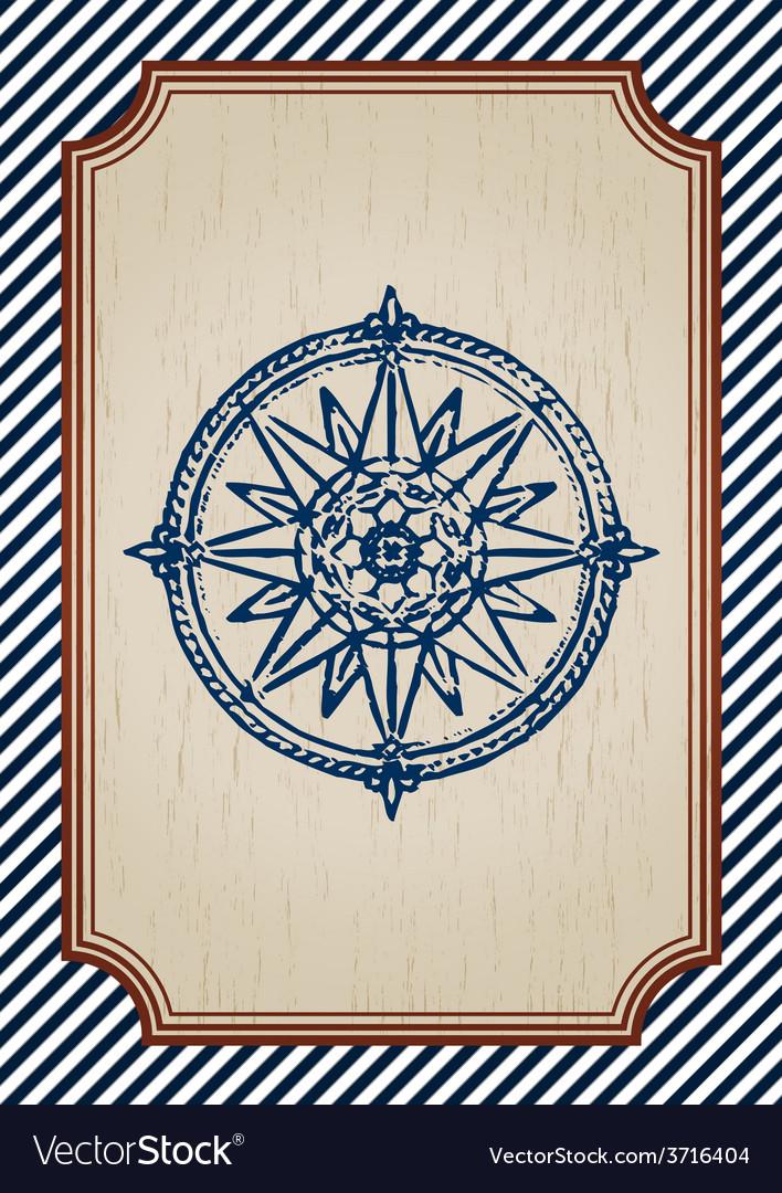 Nautical poster vector