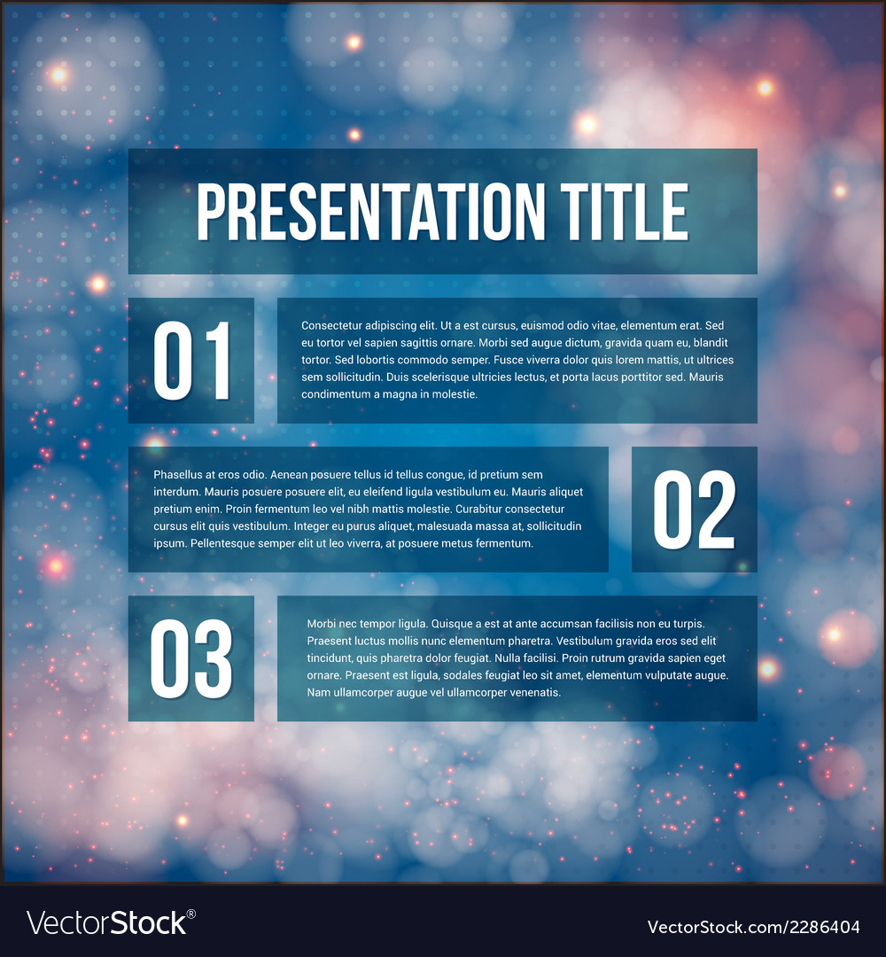 Template for your business presentation blurred vector