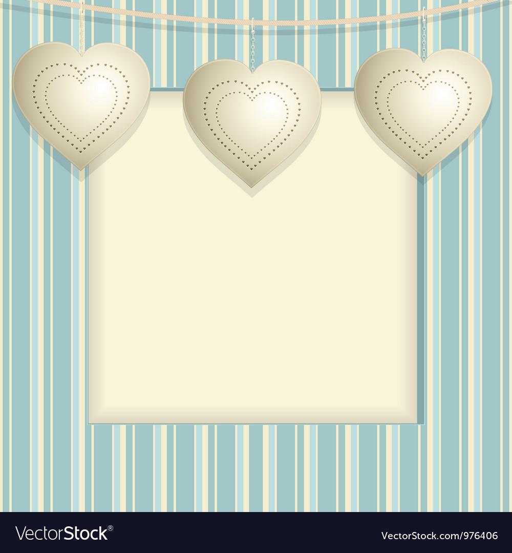 Hanging heart background vector