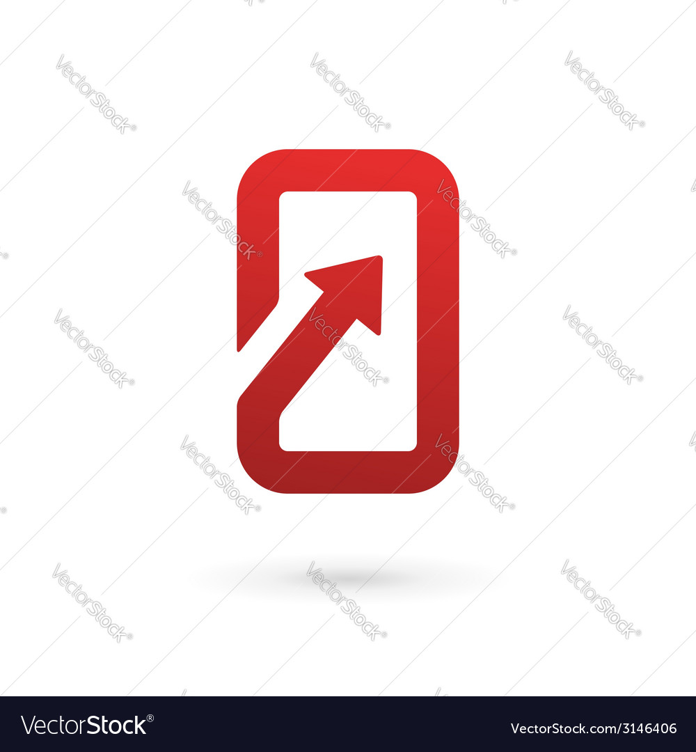 Mobile phone app logo icon design template vector