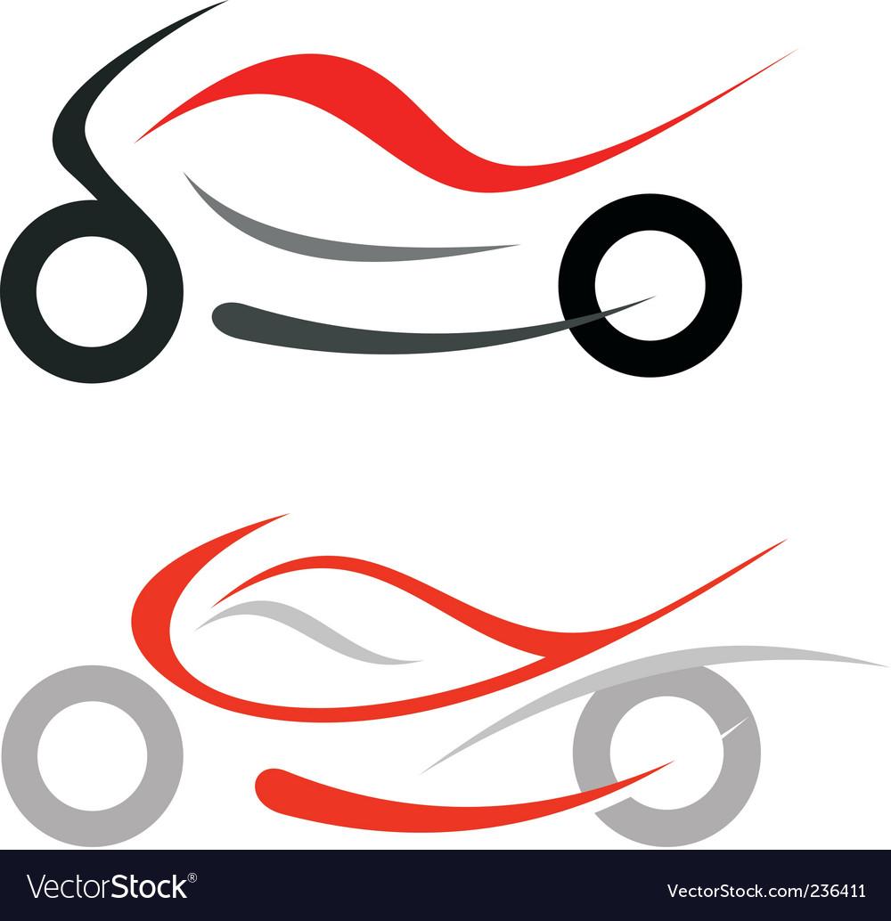 Motorcycle sportbike vector