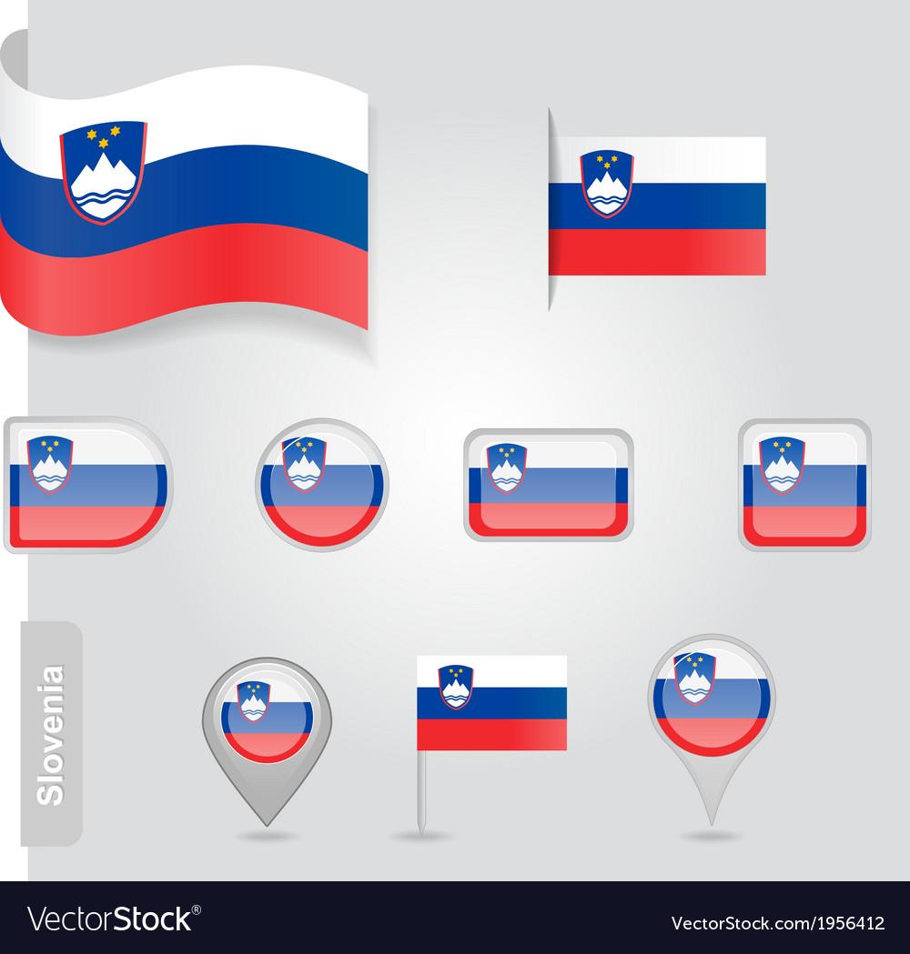 Slovenian flag icon vector