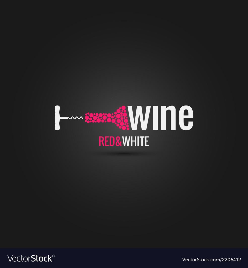 Wine cellar bottle design background vector