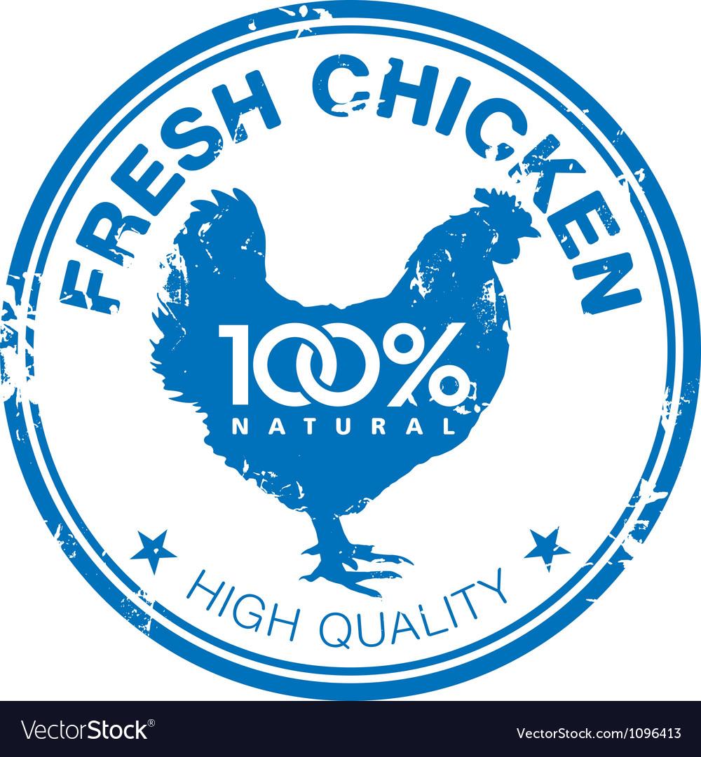 Chicken stamp vector