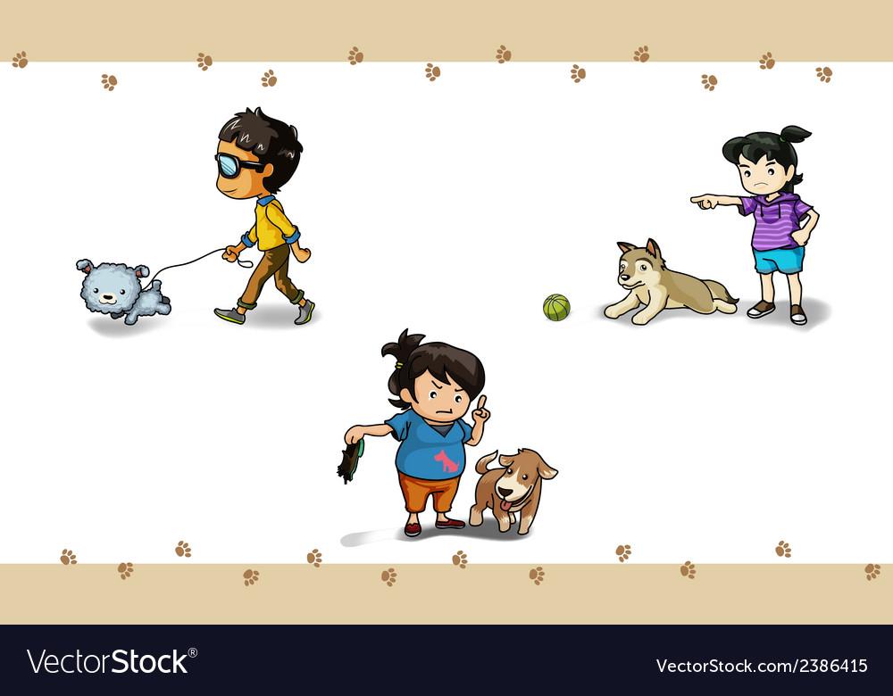 Pet set vector