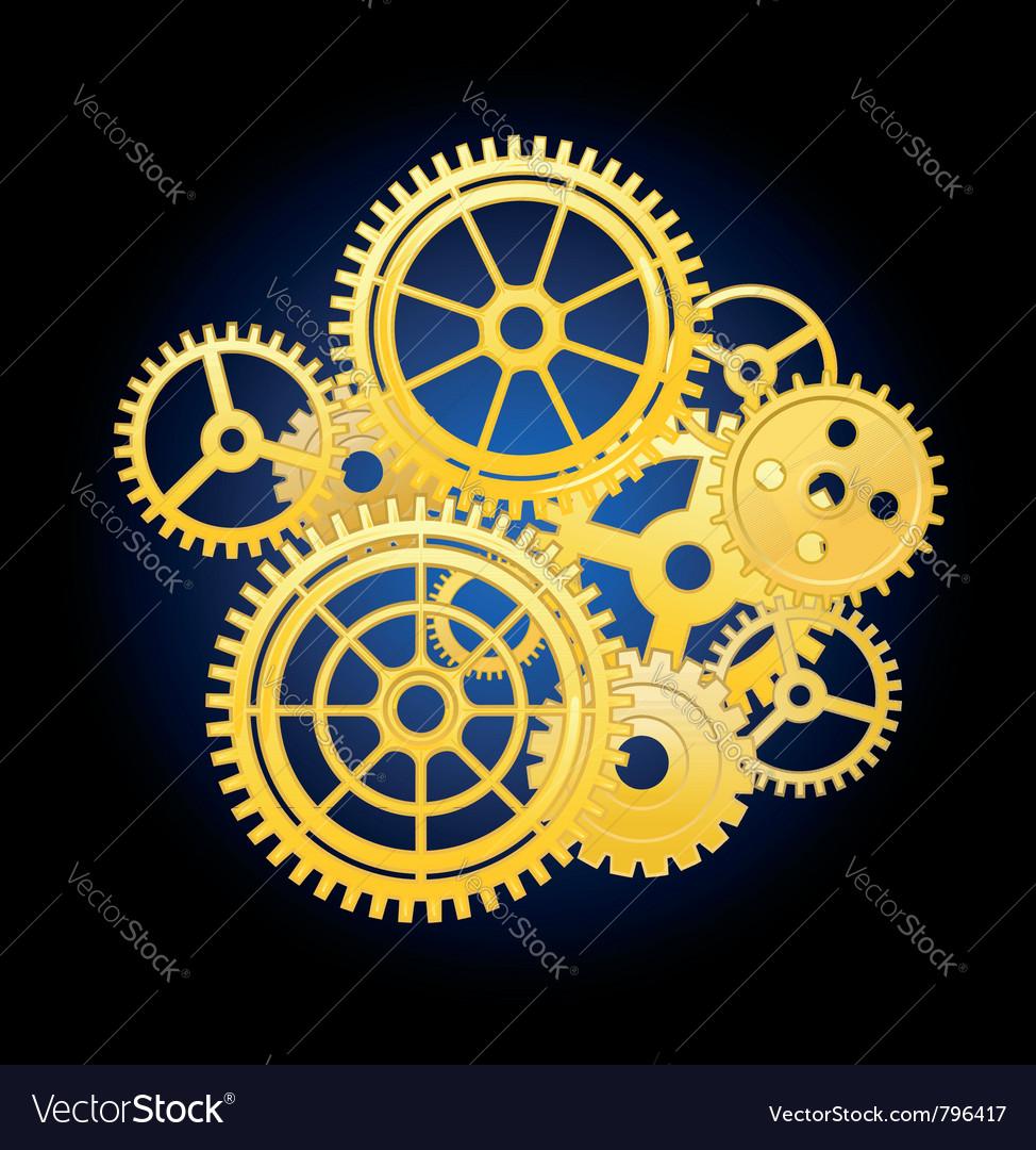 Clockwork mechanism vector