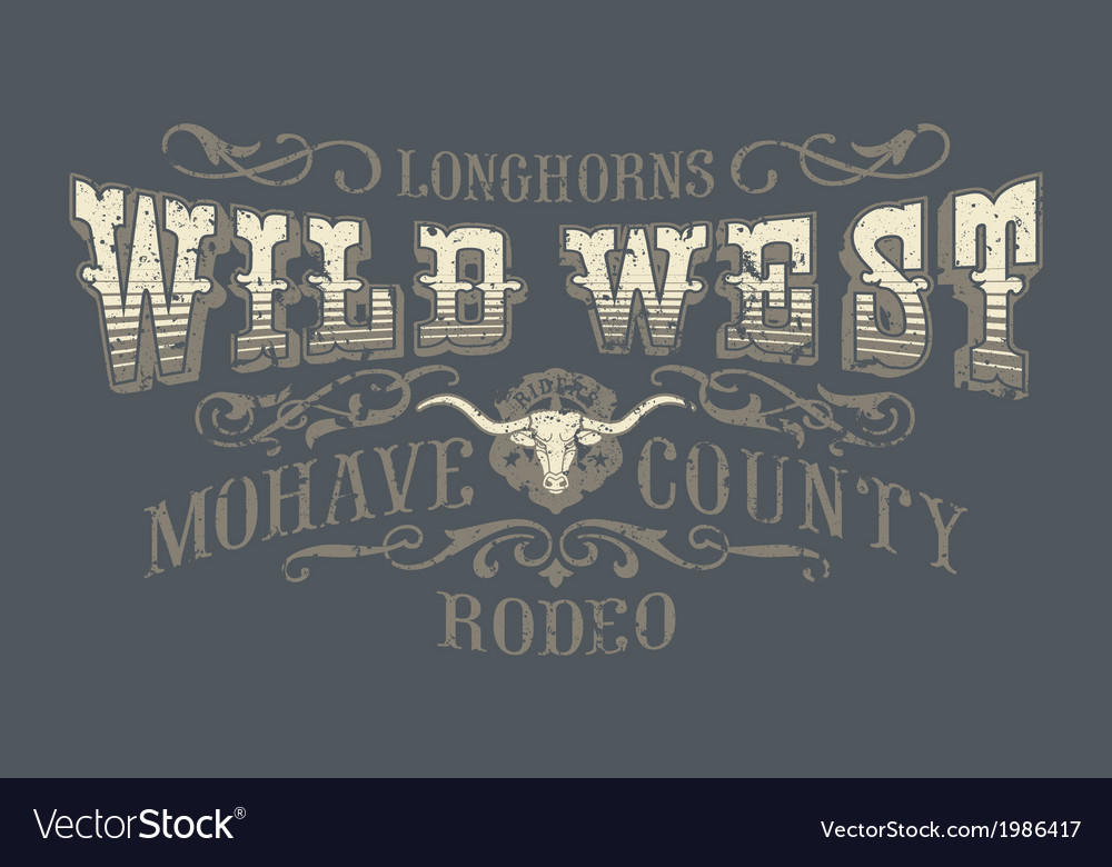Wild west rodeo vector