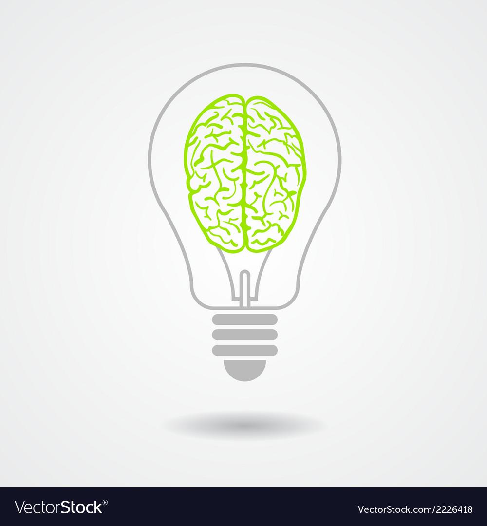 Think green ecological concept vector