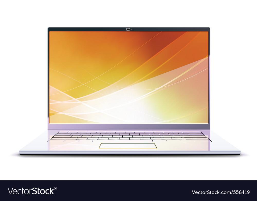 Modern laptop vector