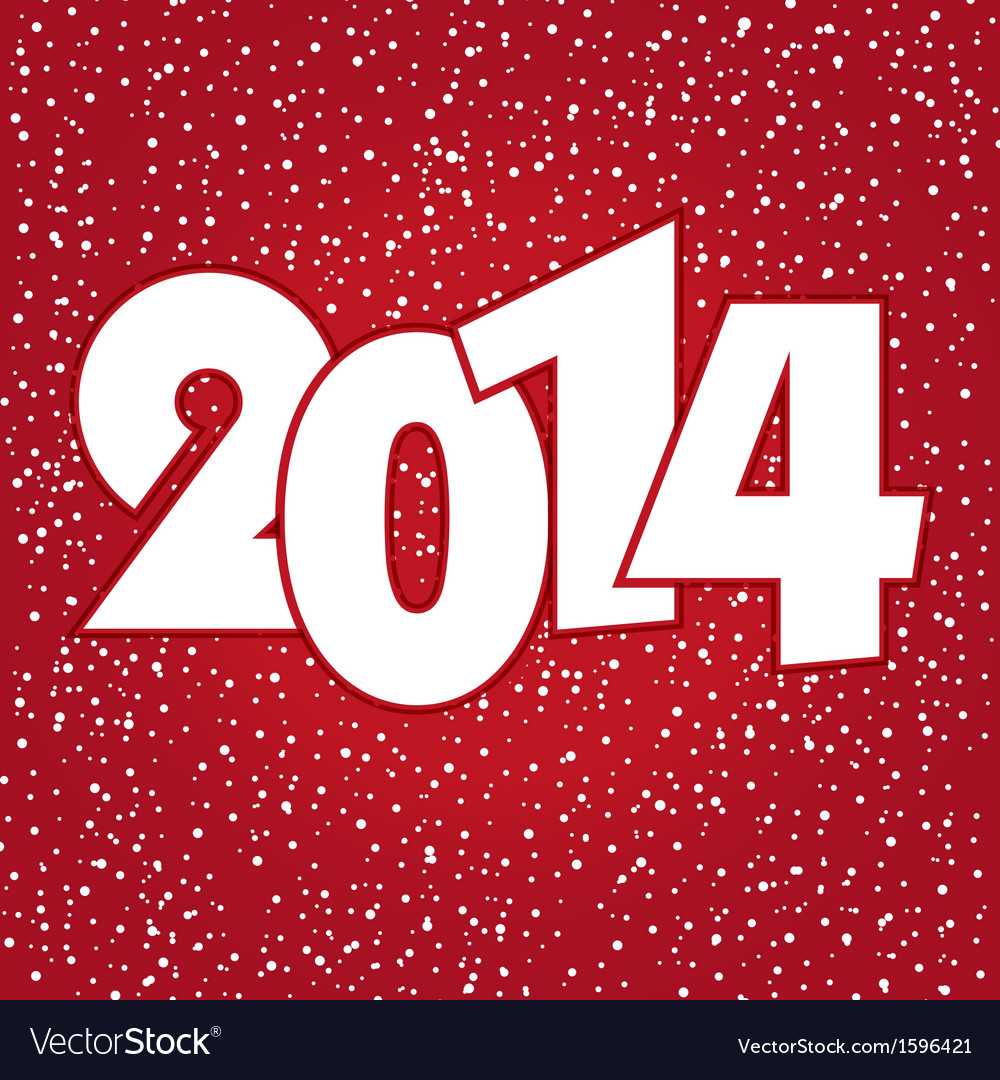 Happy new year 2014 celebration greeting card vector