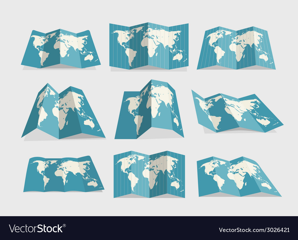 World map collection vector