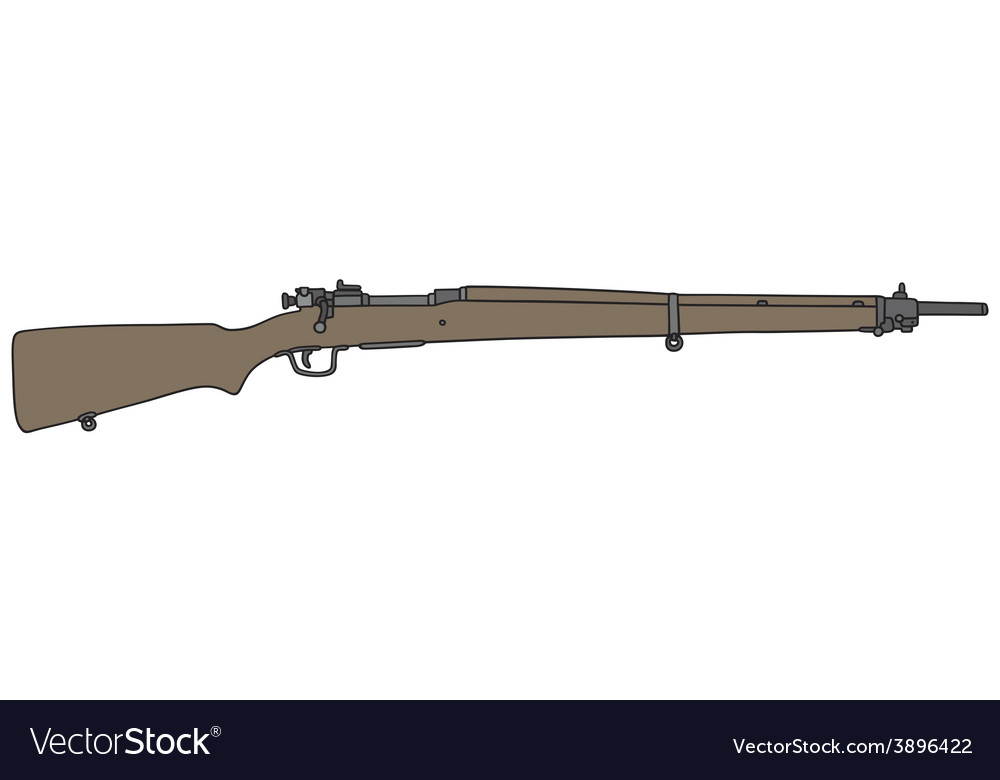 Old military rifle vector
