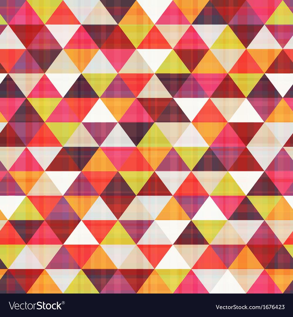 Seamless geometric triangle pattern vector