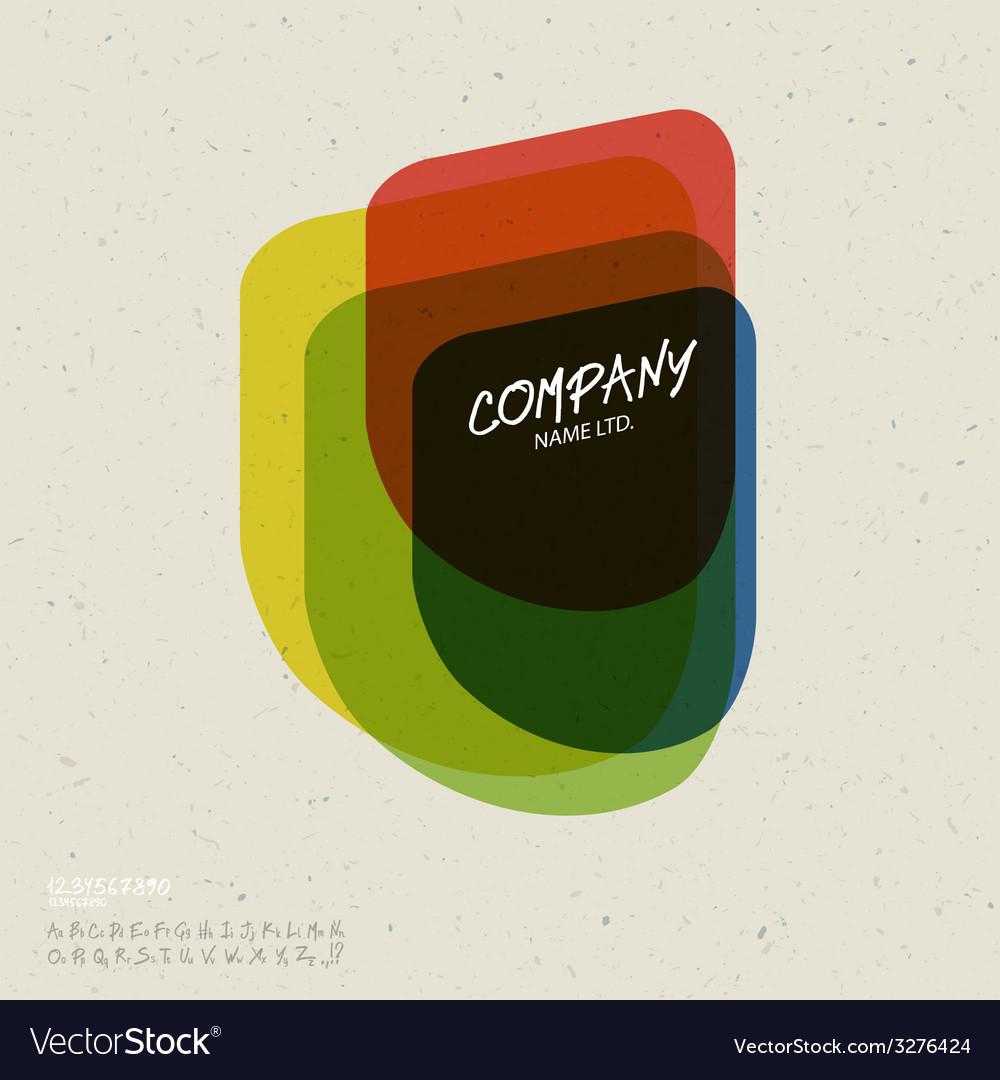 Retro colorful abstract icon vector