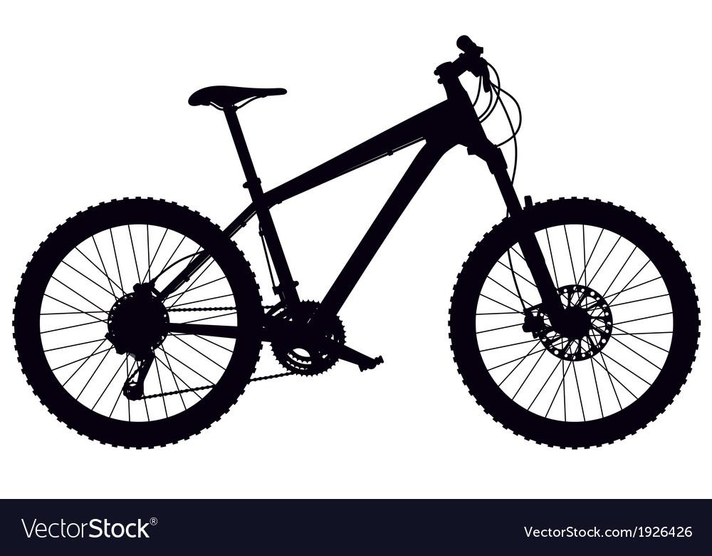 Mountain bike hardtail vector