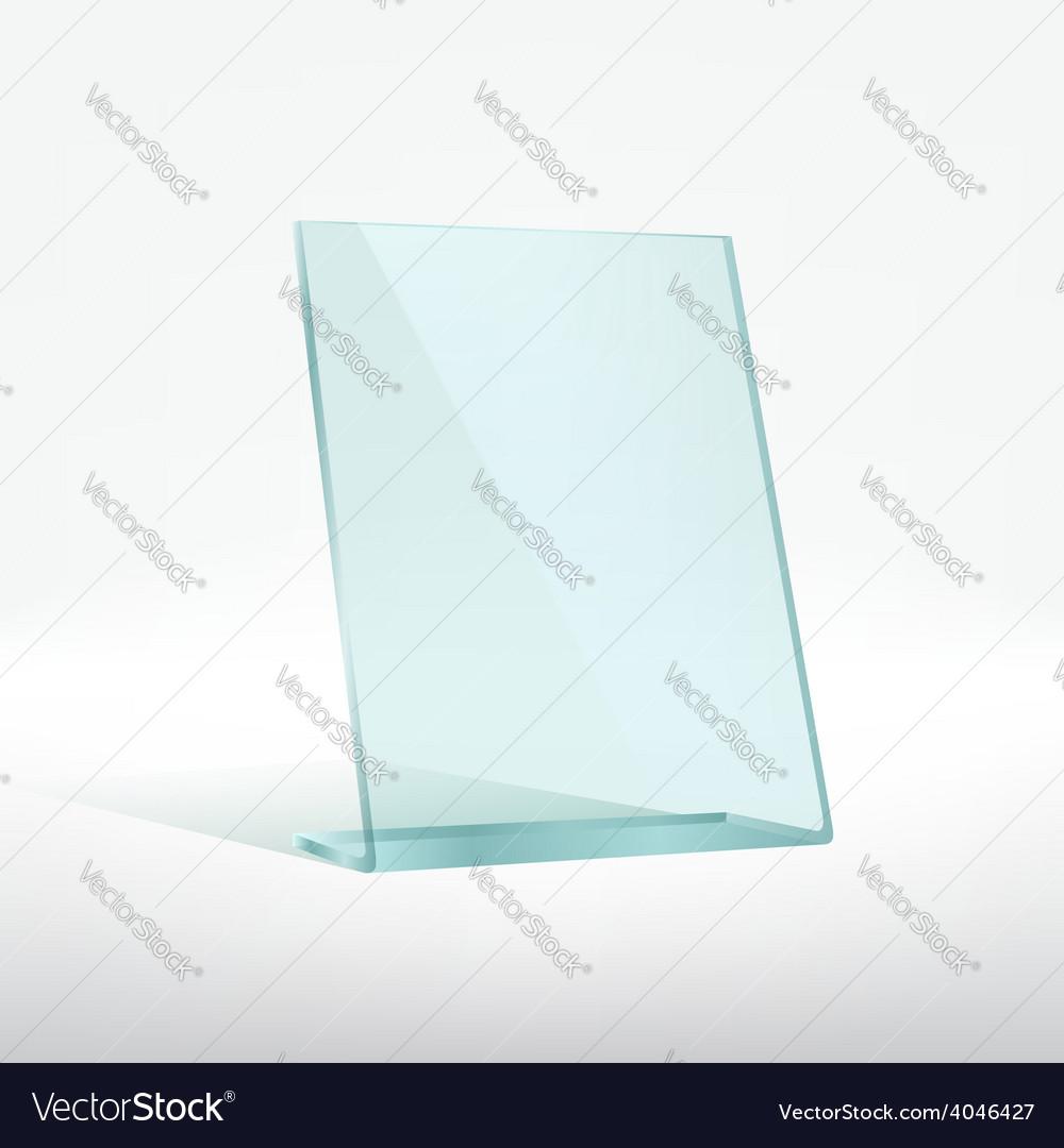 Blank glass award plate vector