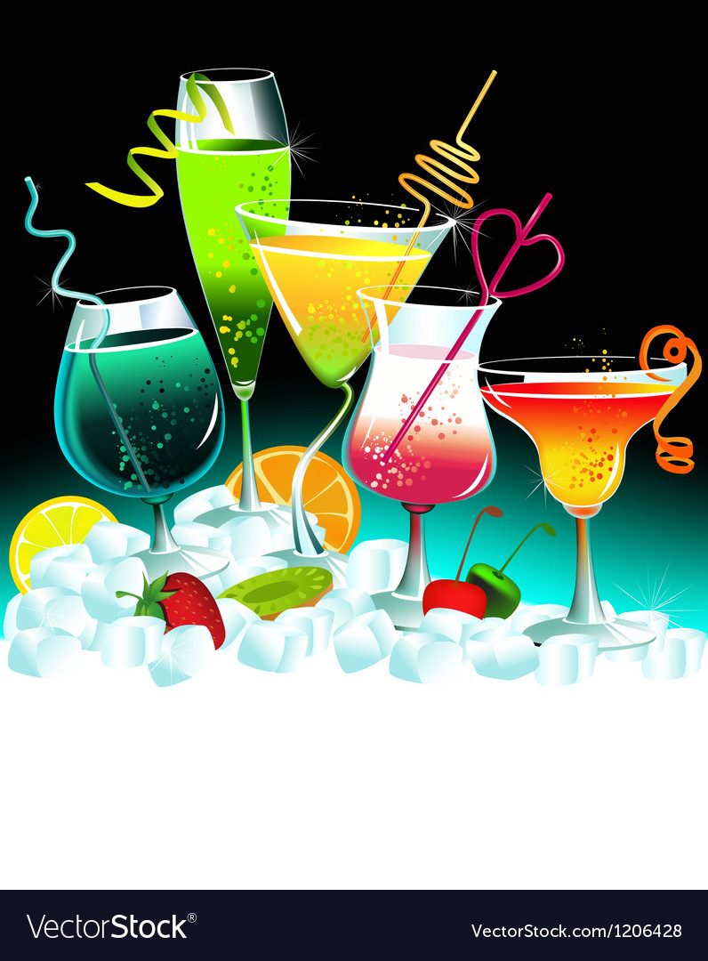 Set of drinks vector