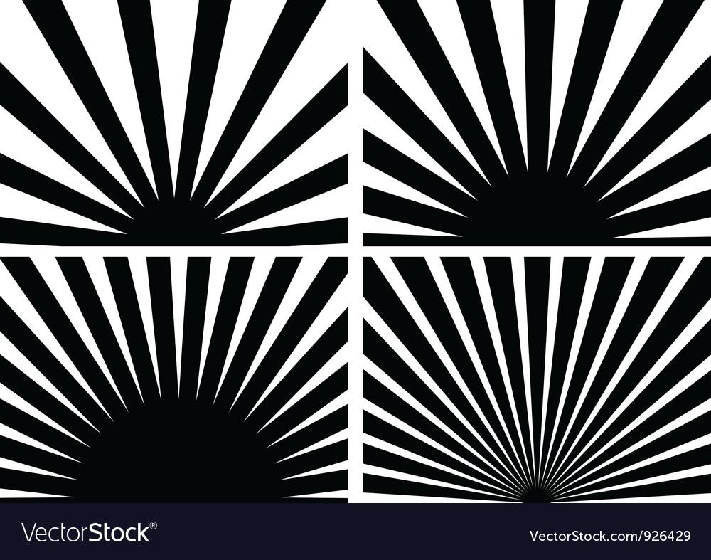 Sunrays vector