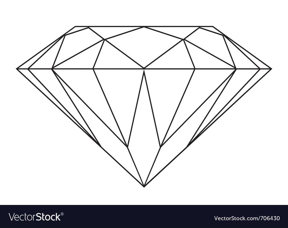 Black and white diamond vector
