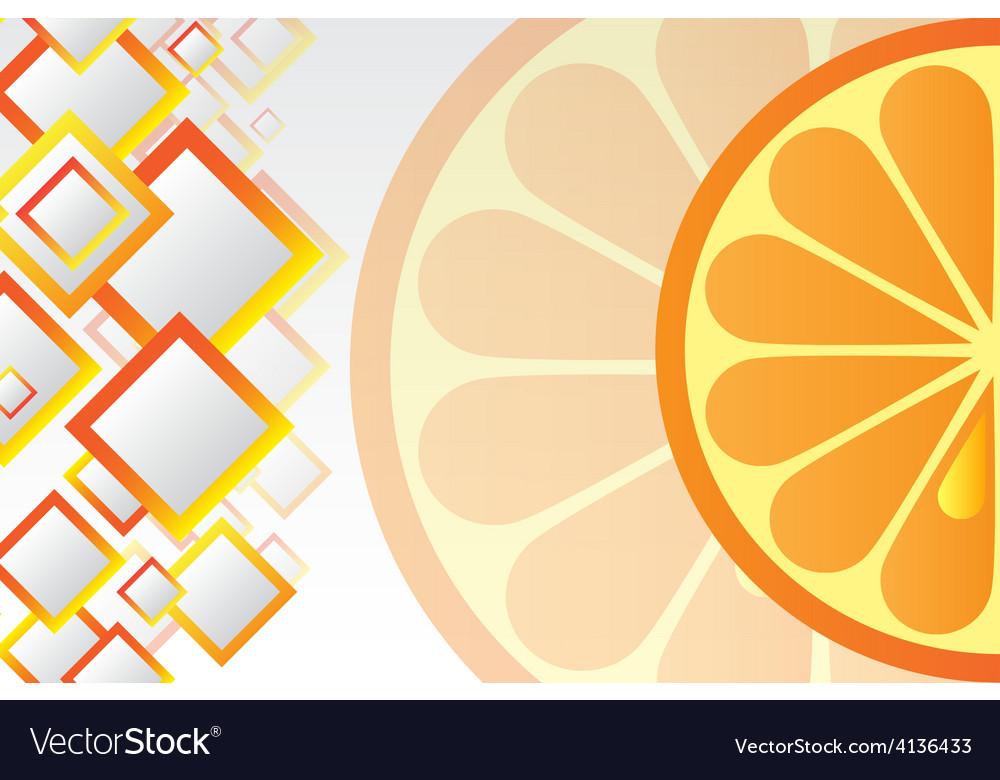 Juicy orange background vector