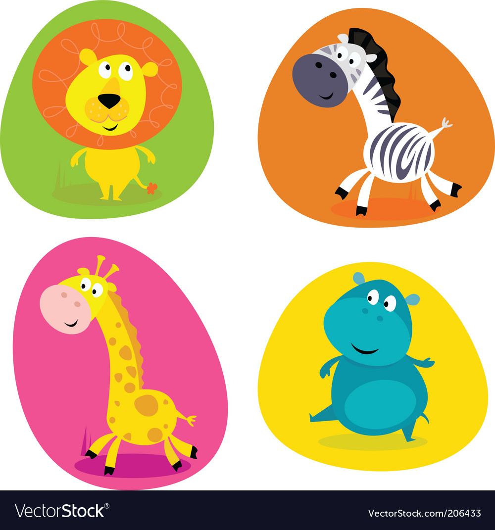 Jungle animals vector