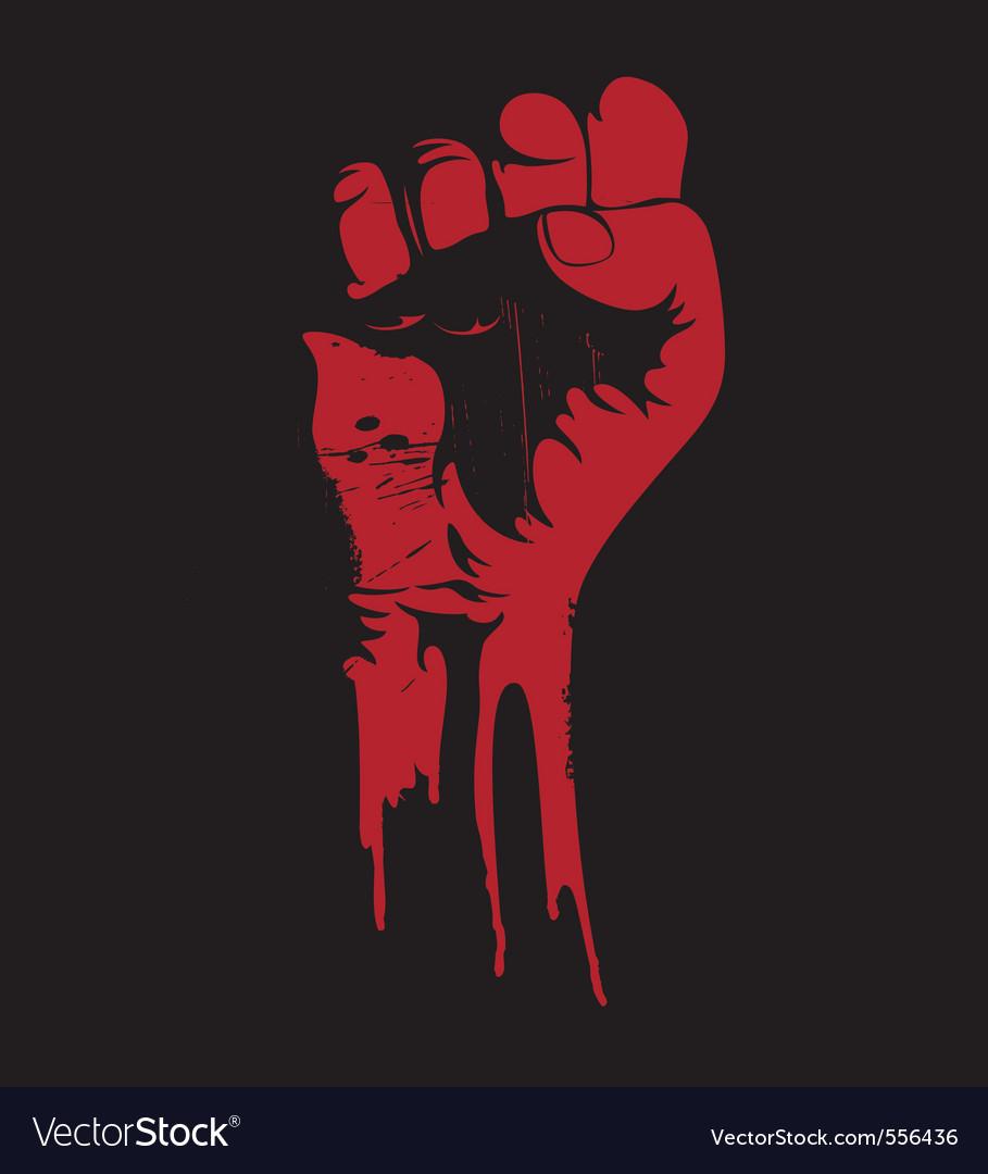 Grunge fist vector