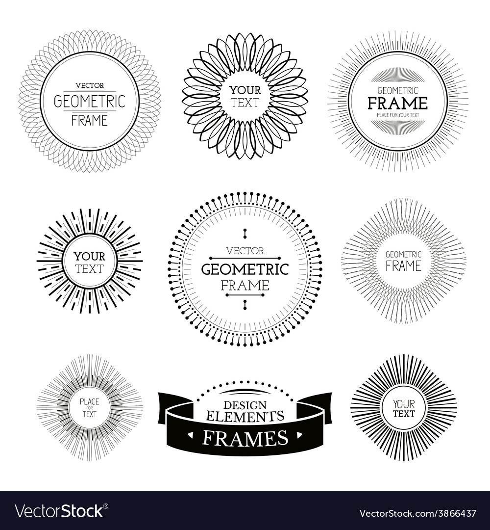 Geometric frames and labels vector