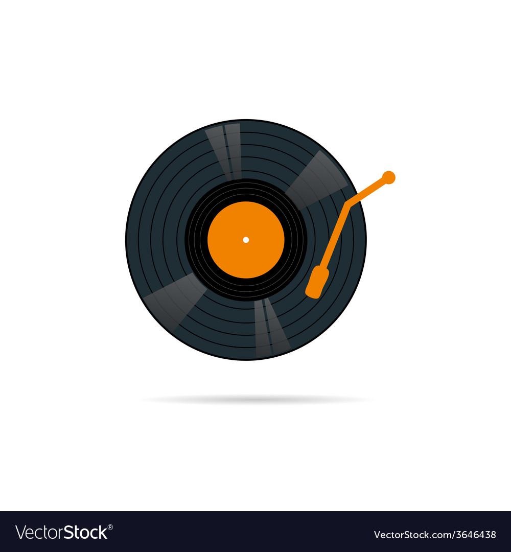 Vinyl record icon in color vector