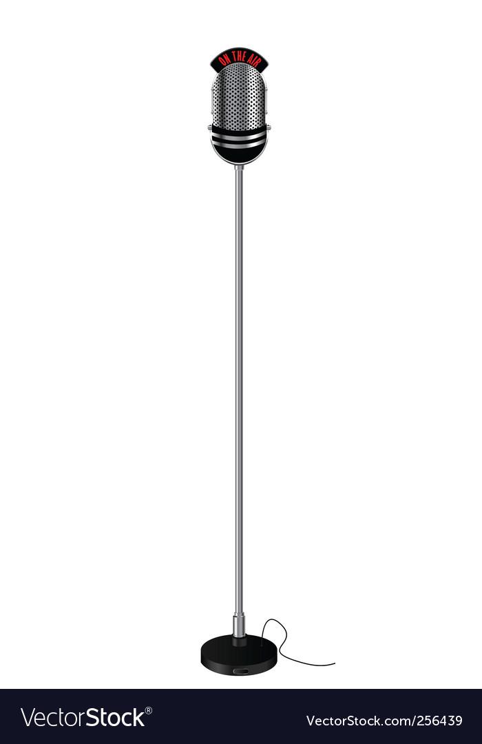 Retro style radio microphone vector