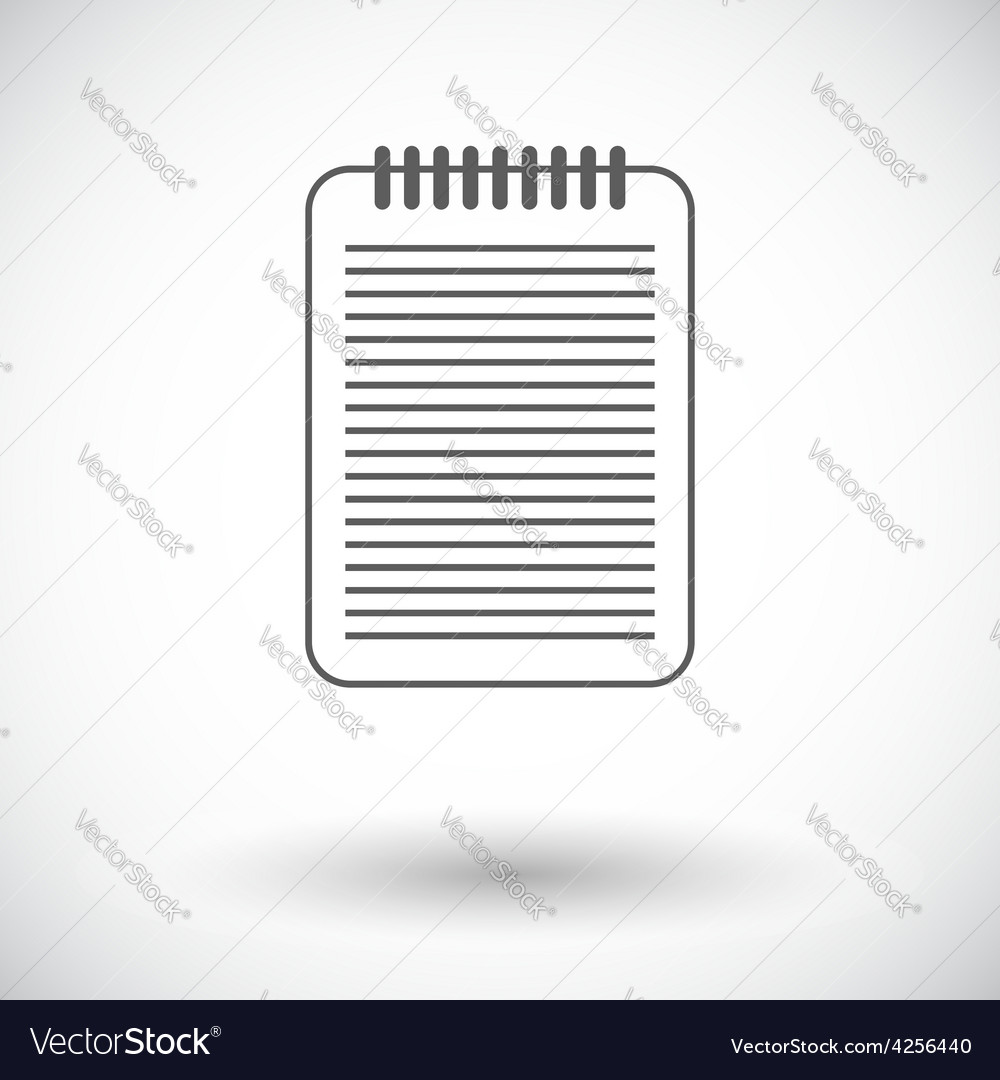 Document single icon vector